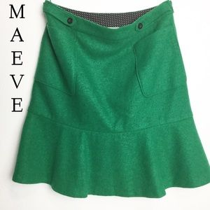 Anthropologie Maeve A-Line Flare Skirt Size 8
